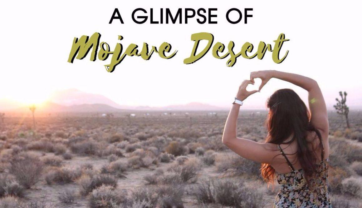 A glimpse of Mojave Desert
