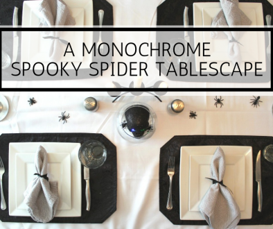 A MONOCHROME SPOOKY SPIDER TABLESCAPE