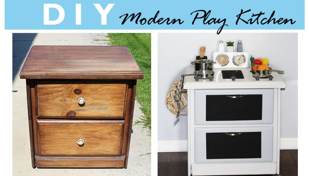How to Make a Play Kitchen | DIY Play Kitchen | Rich and ...